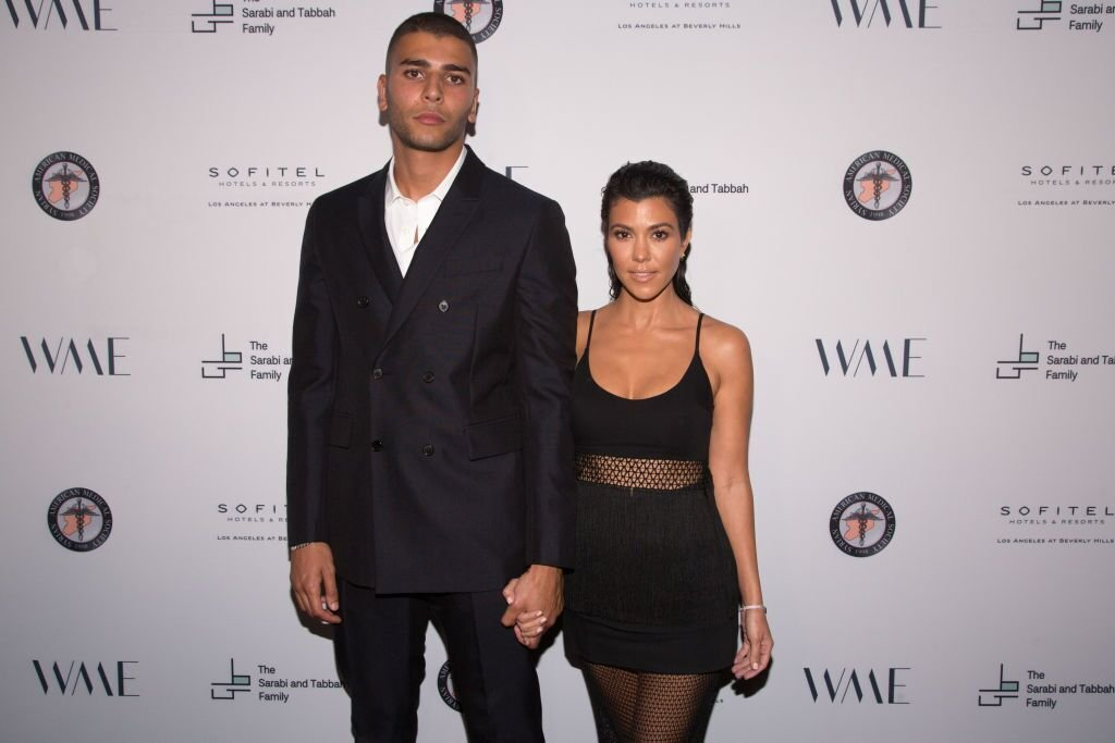 Younes Bendjima and Kourtney Kardashian at The Syrian American Medical Society on May 4, 2018, in Los Angeles, California | Photo: Gabriel Olsen/Getty Images