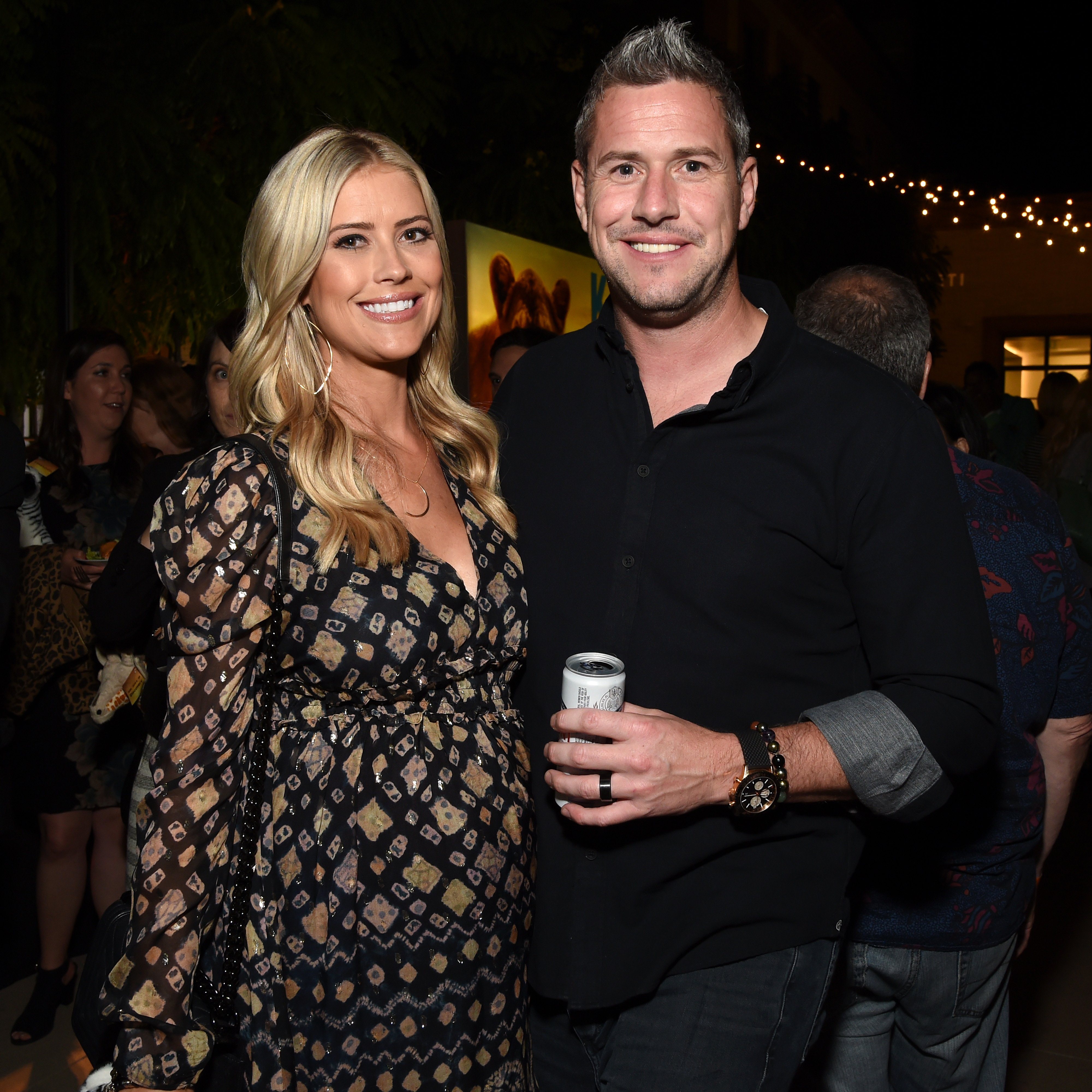 """Christina and Ant Anstead at the """"Serengeti"""" premiere on July 23, 2019 in Beverly Hills, California 