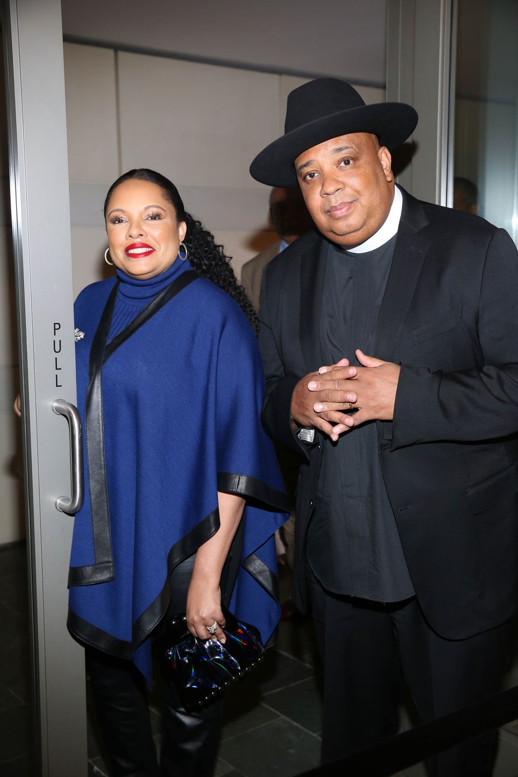 "Joseph ""Rev Run"" and wife Justine Simmons at the 36th Annual Caucus Awards Dinner in 2018 in Los Angeles 
