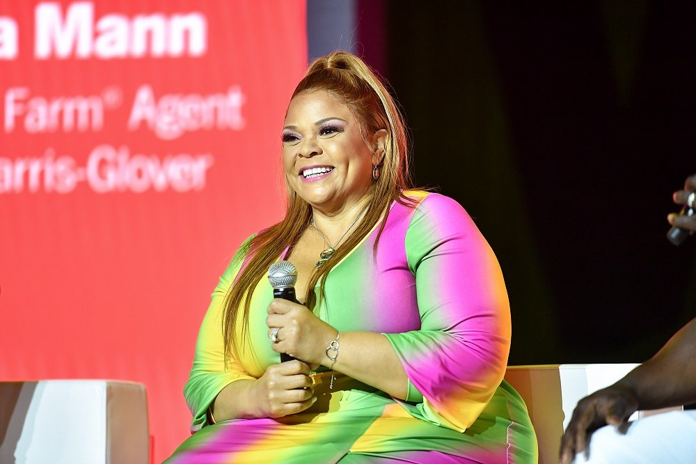 Tamela Mann speakinig during the 2019 Essence Festival at Ernest N. Morial Convention Center in New Orleans, Louisiana in July 2019. I Image: Getty Images.