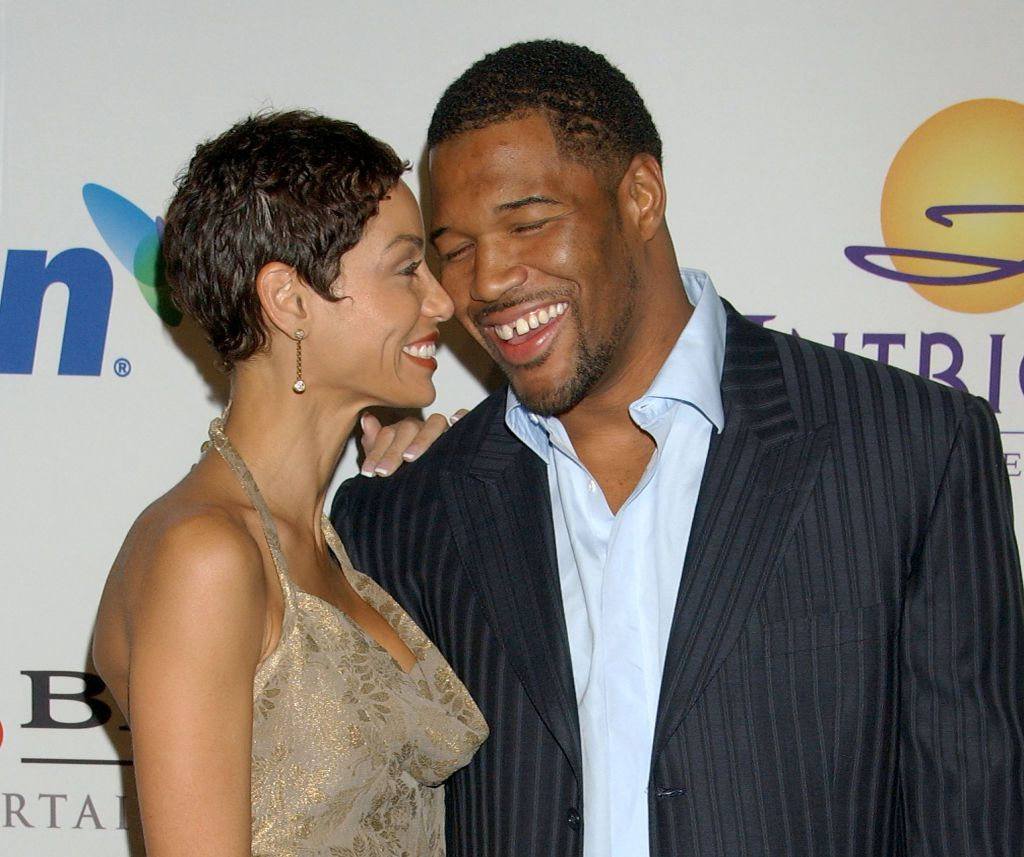 Michael Strahan and Niki Murphy at the Beverly Hilton Hotel on February 9, 2008 in Los Angeles, California. | Photo: Getty Images