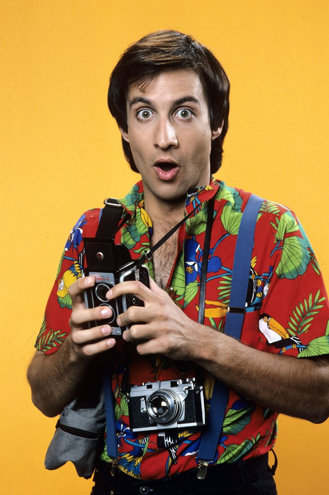 """A portrait of Bronson Pinchot on set of the season 1 of """"Perfect Strangers"""" on June 27, 1986 