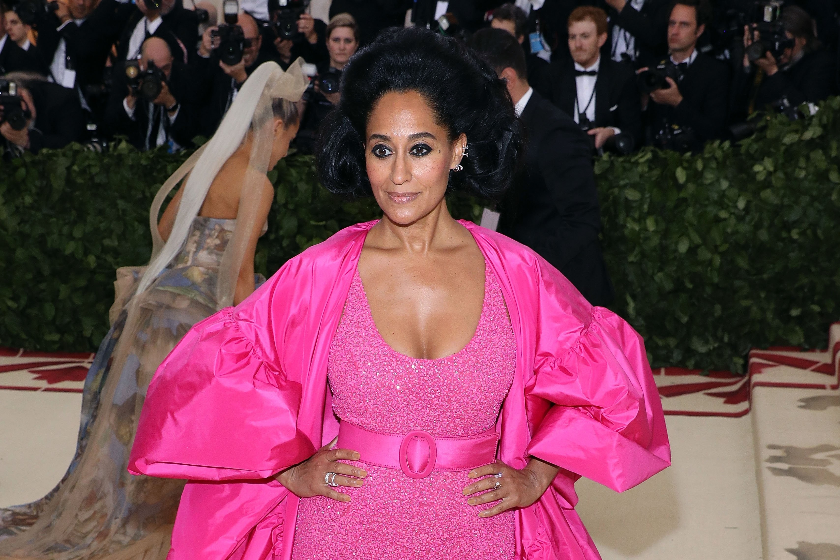 Tracee Ellis Ross poses at the 2018 Costume Institute Benefit at Metropolitan Museum of Art on May 7, 2018 in New York City.   Source: Getty Images