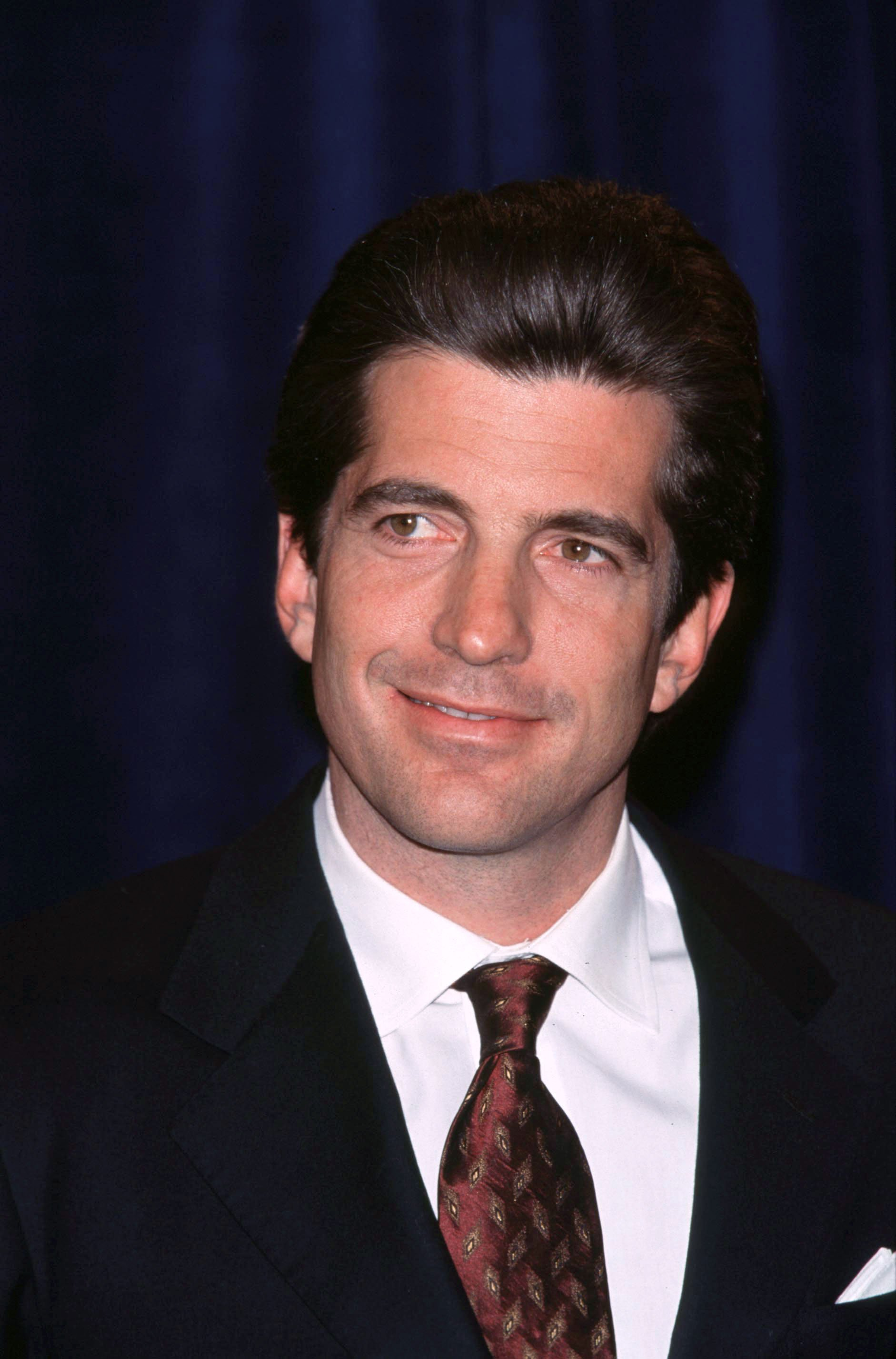 John F. Kennedy Jr. attends the Jackie Robinson Foundation Dinner on March 8, 1999. | Source: Getty Images.