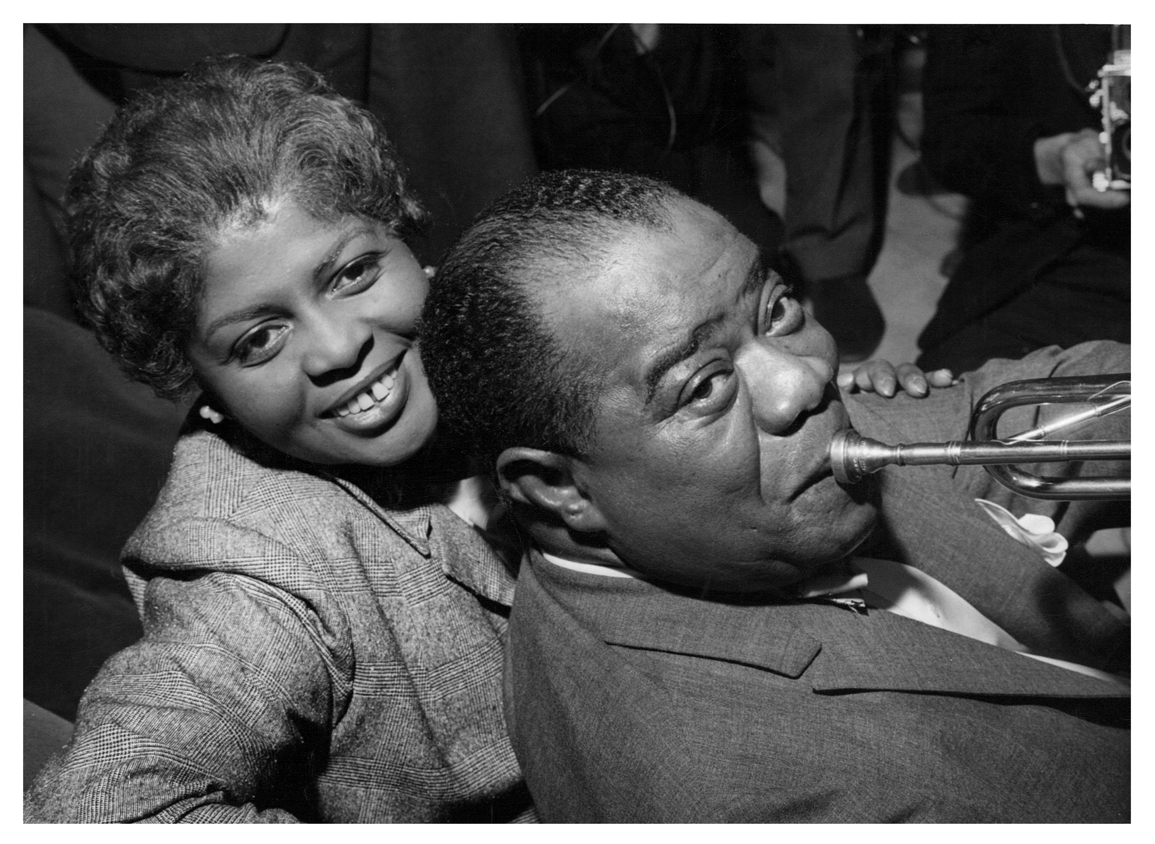 Publicity still portrait of American jazz musician Louis Armstrong and his wife Lucille, 1960 | Photo: GettyImages
