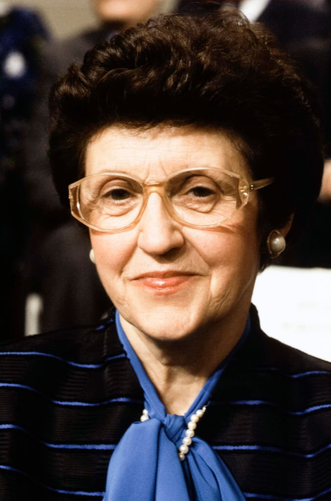 Marie Delors, épouse de Jacques Delors le 23 janvier 1990 à Paris, France. | Photo : Getty Images