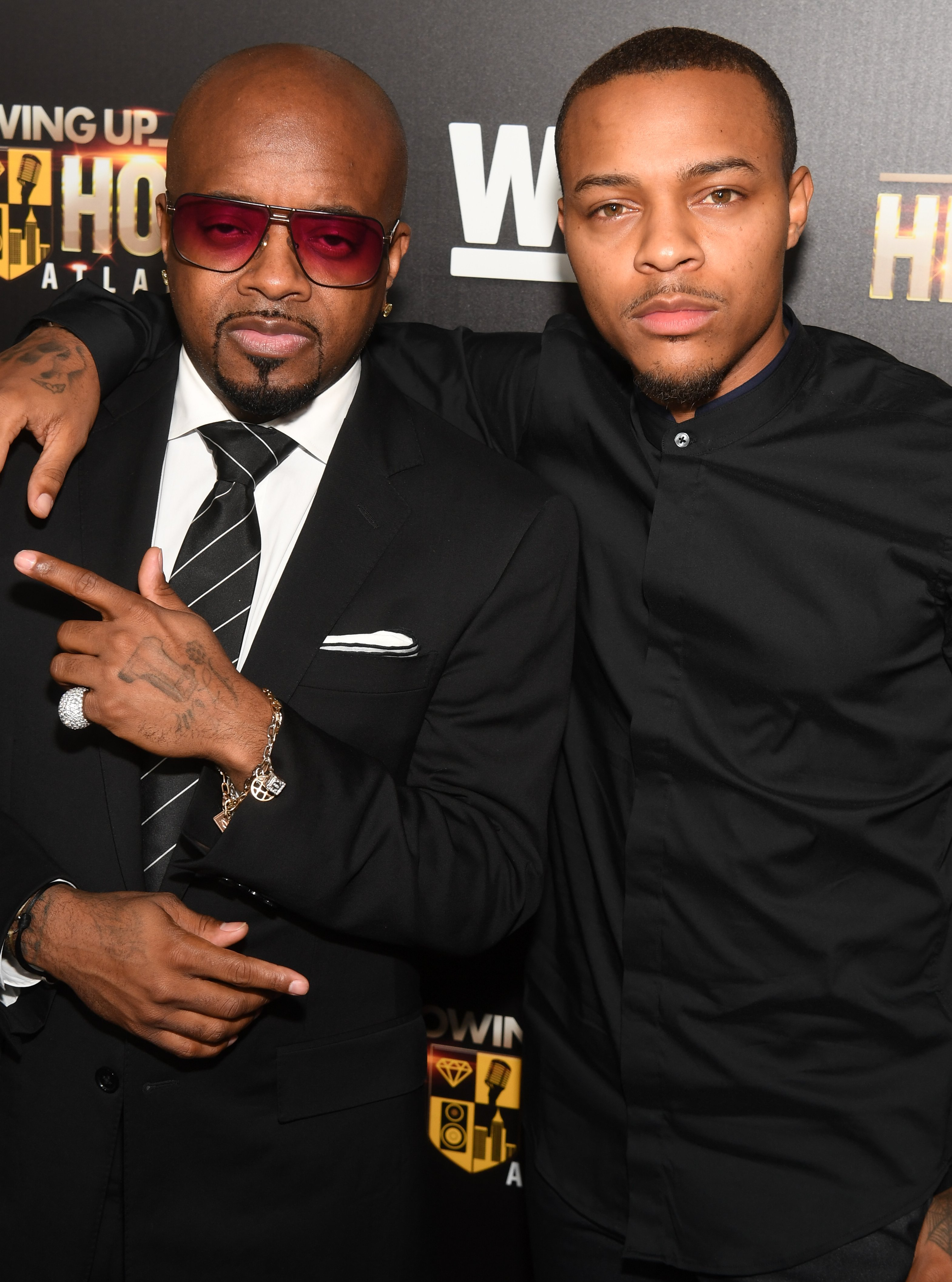 "Jermaine Dupri and Shad Moss attend the premiere of ""Growing Up Hip Hop Atlanta"" at Woodruff Arts Center on May 23, 2017 