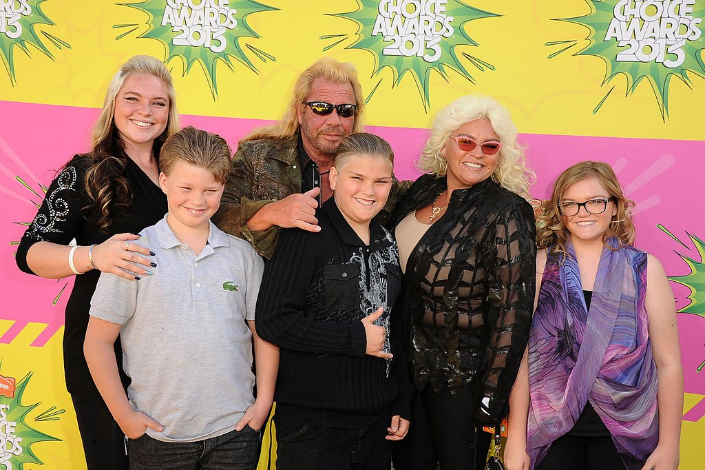 """Duane """"Dog"""" Chapman, Beth Chapman, Bonnie Chapman, and some other members of the Chapman family on March 23, 2013 in Los Angeles, California 