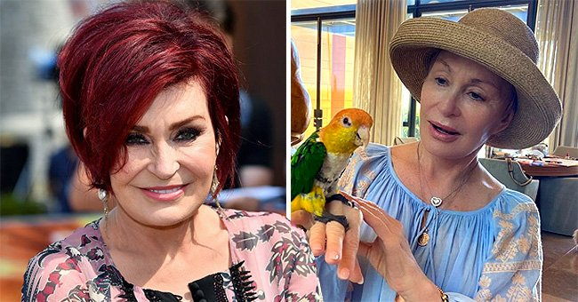 Sharon Osbourne Looks Barely Recognizable as She Poses with a Parrot — See the Stunning Photo