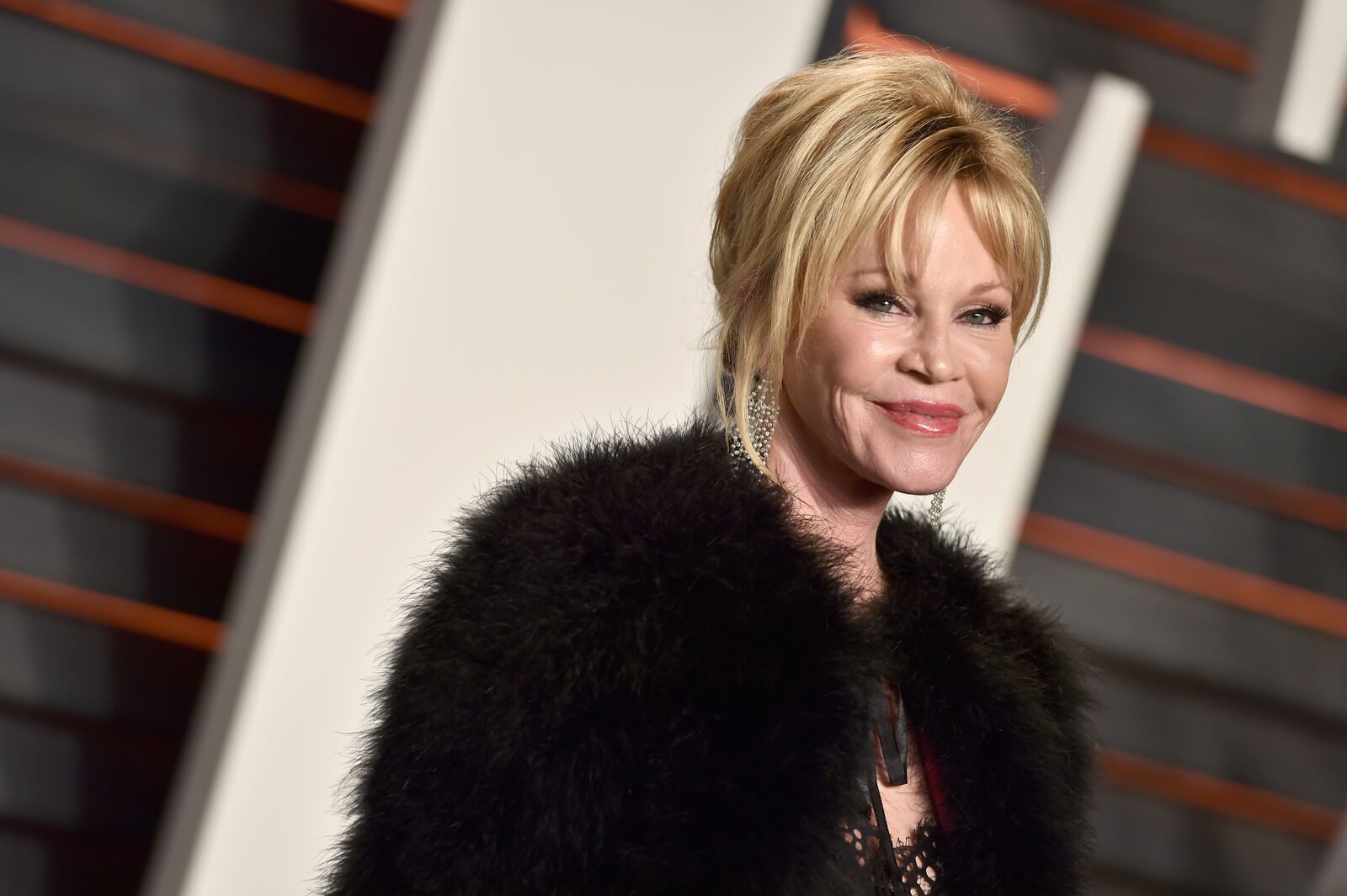 Actress Melanie Griffith attends the 2016 Vanity Fair Oscar Party Hosted By Graydon Carter at the Wallis Annenberg Center for the Performing Arts on February 28, 2016 in Beverly Hills, California | Photo: Getty Images