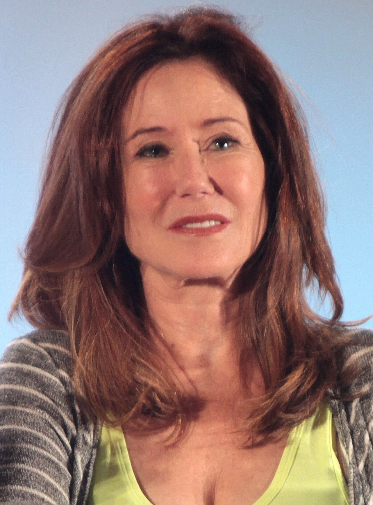 Mary McDonnell at the 2015 Phoenix Comicon at the Phoenix Convention Center in Phoenix, Arizona. | Source: Wikimedia Commons