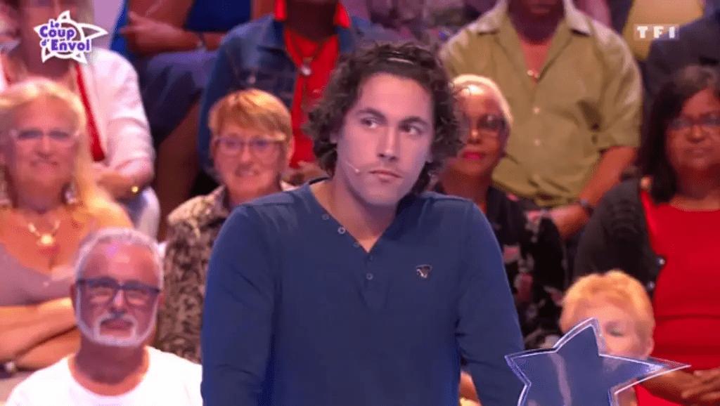 """Julien lors des """"12 coups de midi"""" / Source : capture vidéo TF1"""