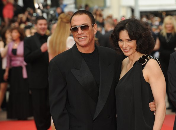 Jean Claude Van Damme and Gladys Portugues at the premiere of Robin Hood | Photo: Getty Images