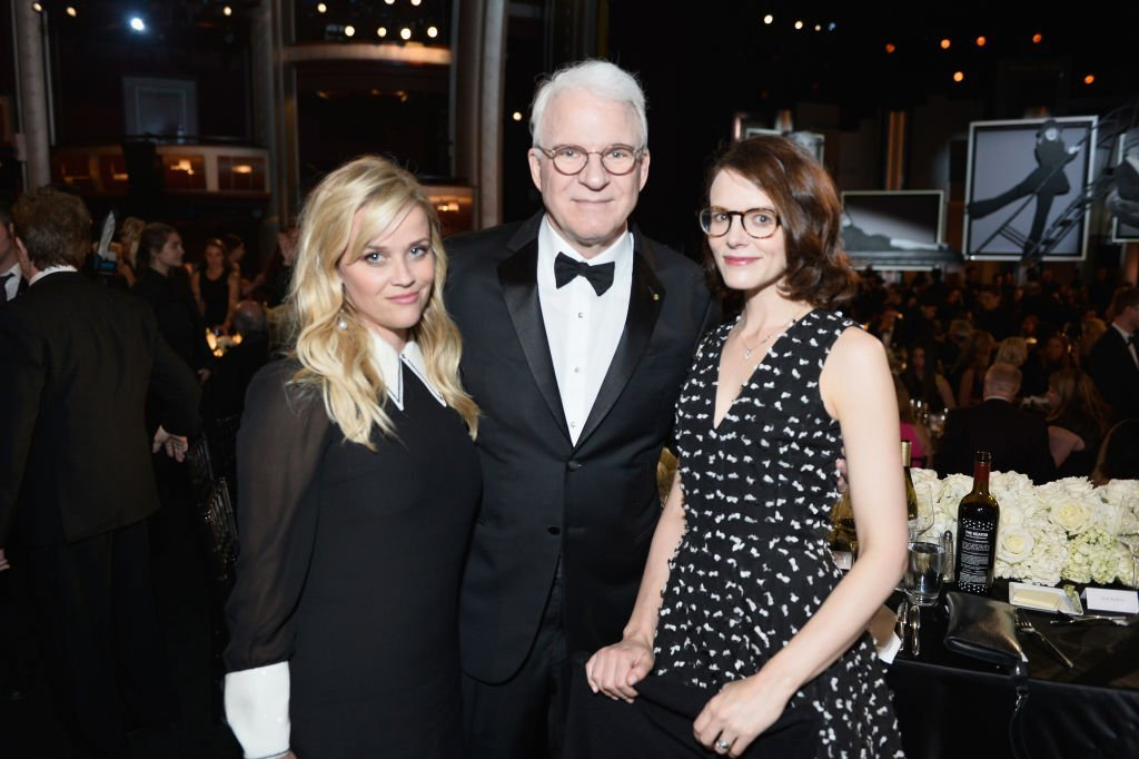 Reese Witherspoon, Steve Martin, and Anne Stringfield at Dolby Theatre on June 8, 2017 in Hollywood, California | Source: Getty Images
