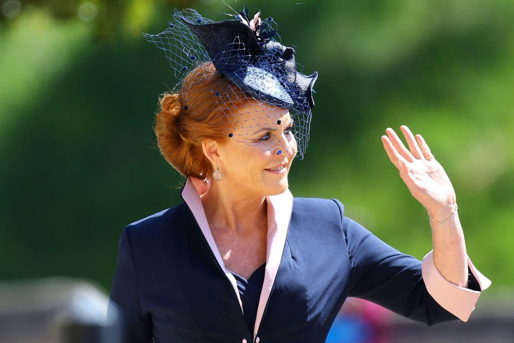 Sarah, Duchess of York arrives at St George's Chapel at Windsor Castle before the wedding of Prince Harry to Meghan Markle | Photo: Getty Images