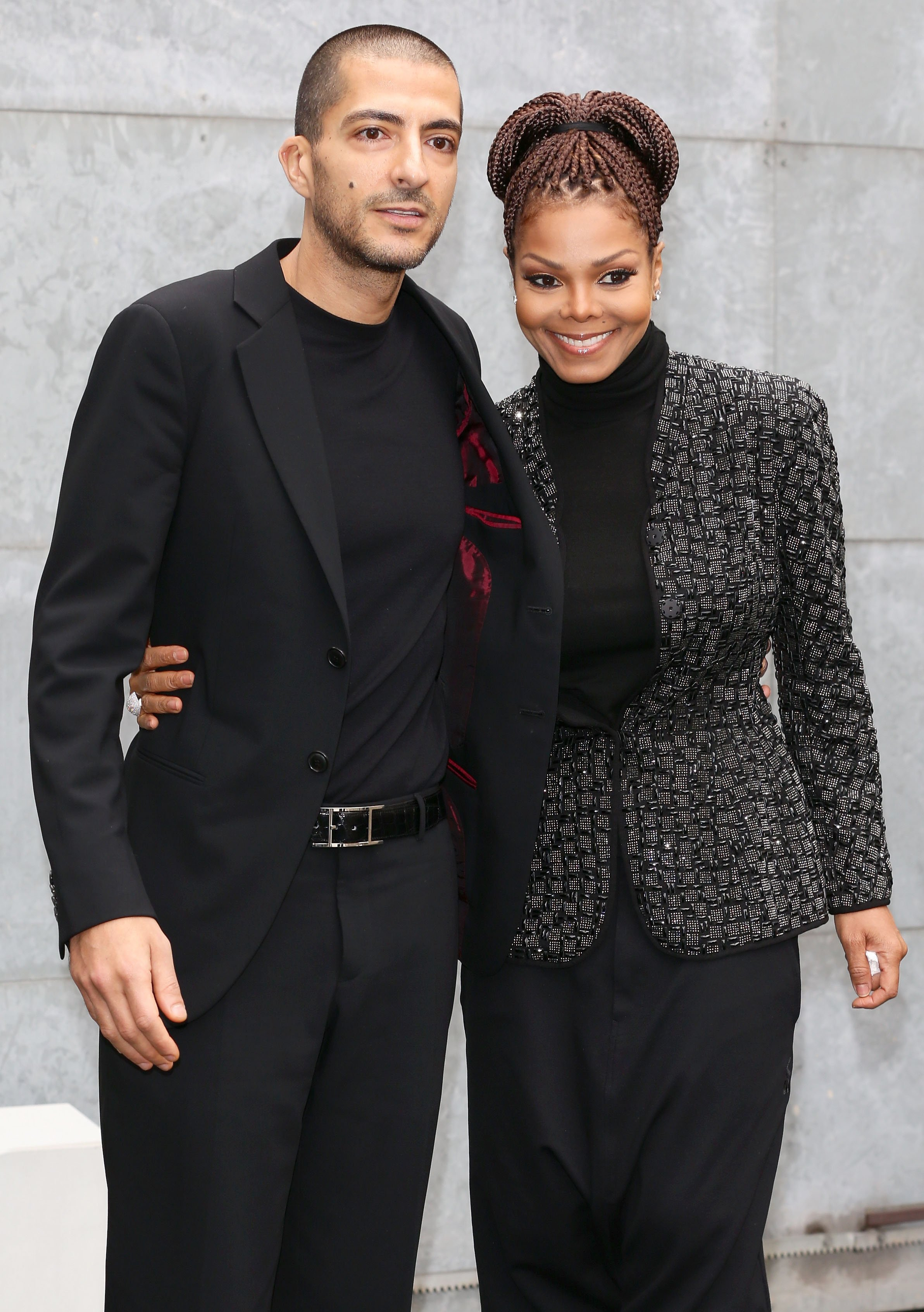 (Happier Times) Janet Jackson & Wissam al Mana during Milan Fashion Week Womenswear Fall/Winter 2013/14 on Feb. 25, 2013 | Photo: Getty Images