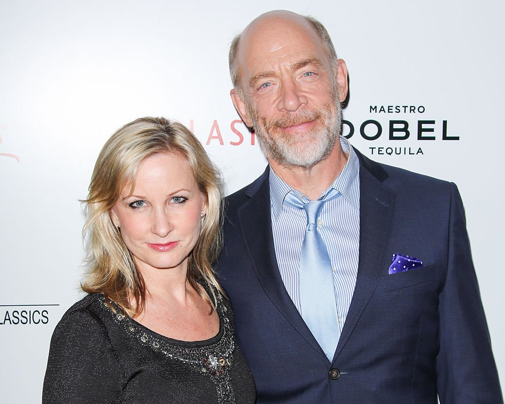 """J.K. Simmons and his Wife Michelle Schumacher at the """"Whiplash"""" premiere after party on October 6, 2014 in Beverly Hills, California 