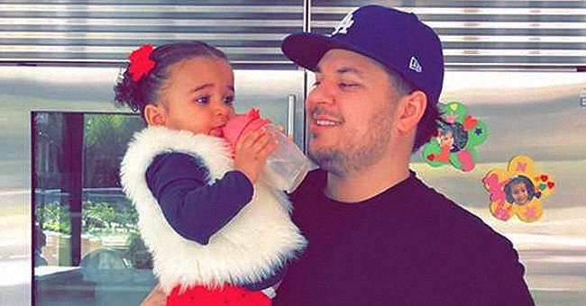 Rob Kardashian Proudly Shares Video of His Daughter Dream Playing While in His Custody