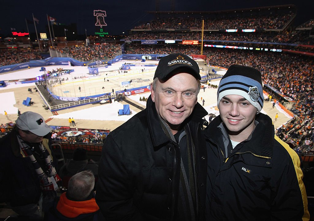 Pat Sajak and his son Patrick Michael attend the 2012 Bridgestone NHL Winter Classic at Citizens Bank Park on January 2, 2012    Photo: Getty Images
