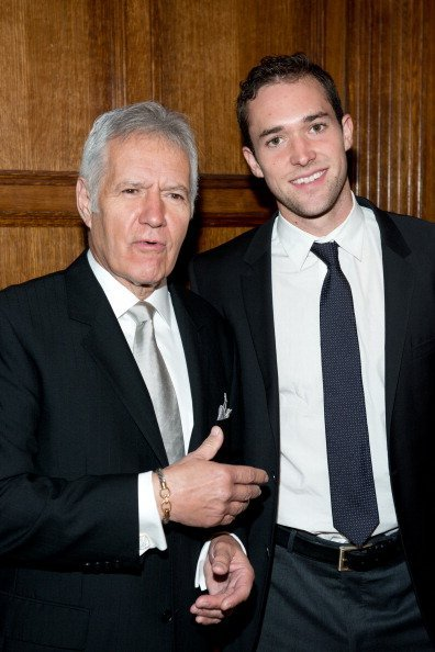 Alex Trebek and son Matthew Trebek at the 11th annual Giants of Broadcasting Honors on October 16, 2013 | Photo: Getty Images