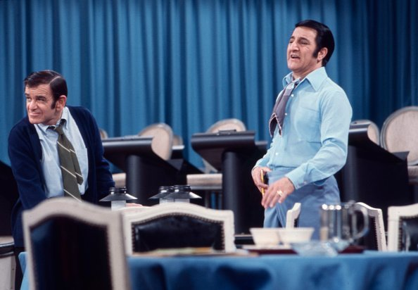 Sid Melton, Danny Thomas appearing on the Walt Disney Television series 'Make Room for Granddaddy' | Photo: Getty Images