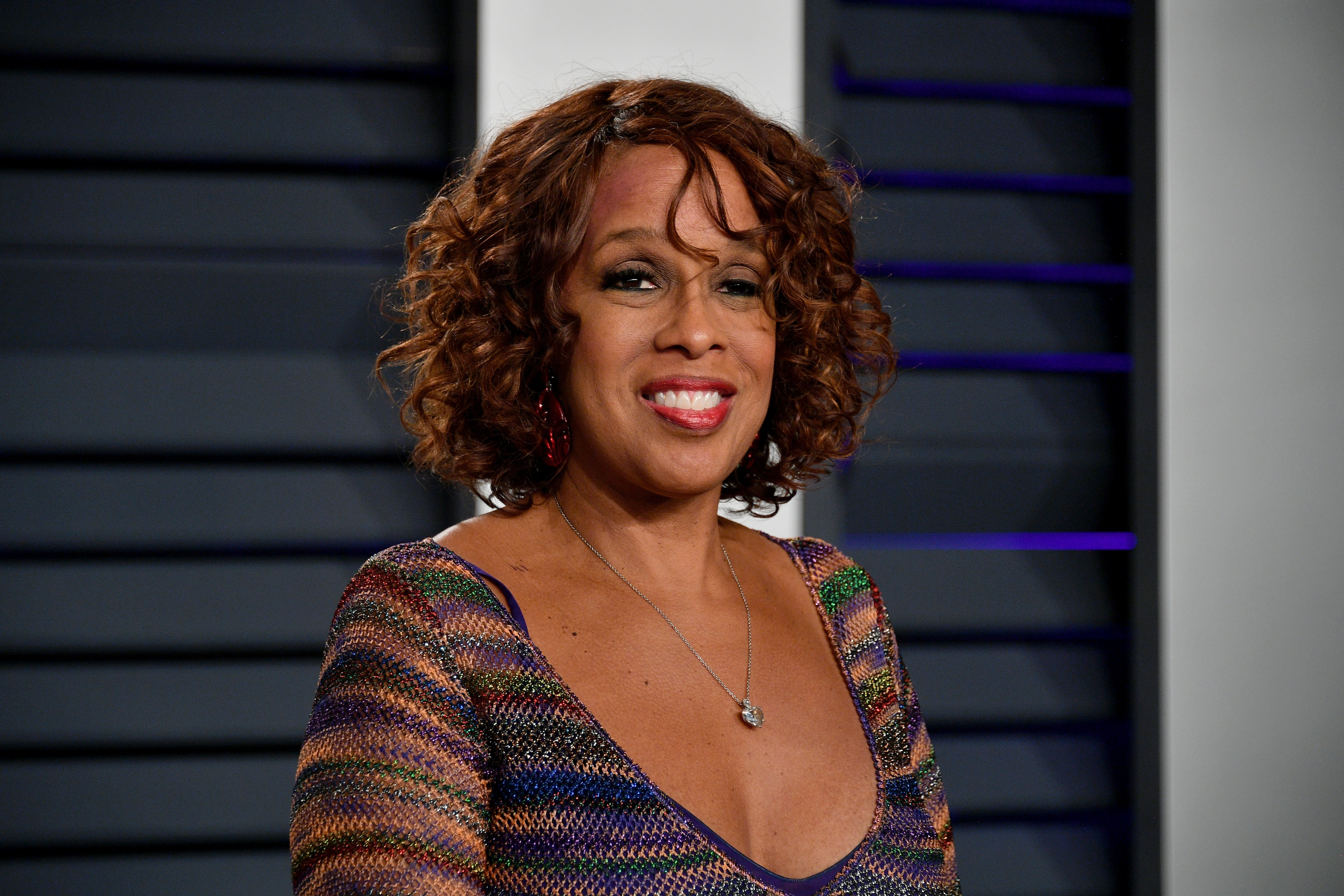 """""""CBS This Morning"""" host Gayle King attends 2019 Vanity Fair Oscars Party in Beverly Hills, California. 