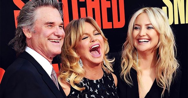 """Kurt Russell, Goldie Hawn, and Kate Hudson pictured at the premiere of 20th Century Fox's """"Snatched"""" in Westwood, California in 2017.   Photo: Getty Images"""