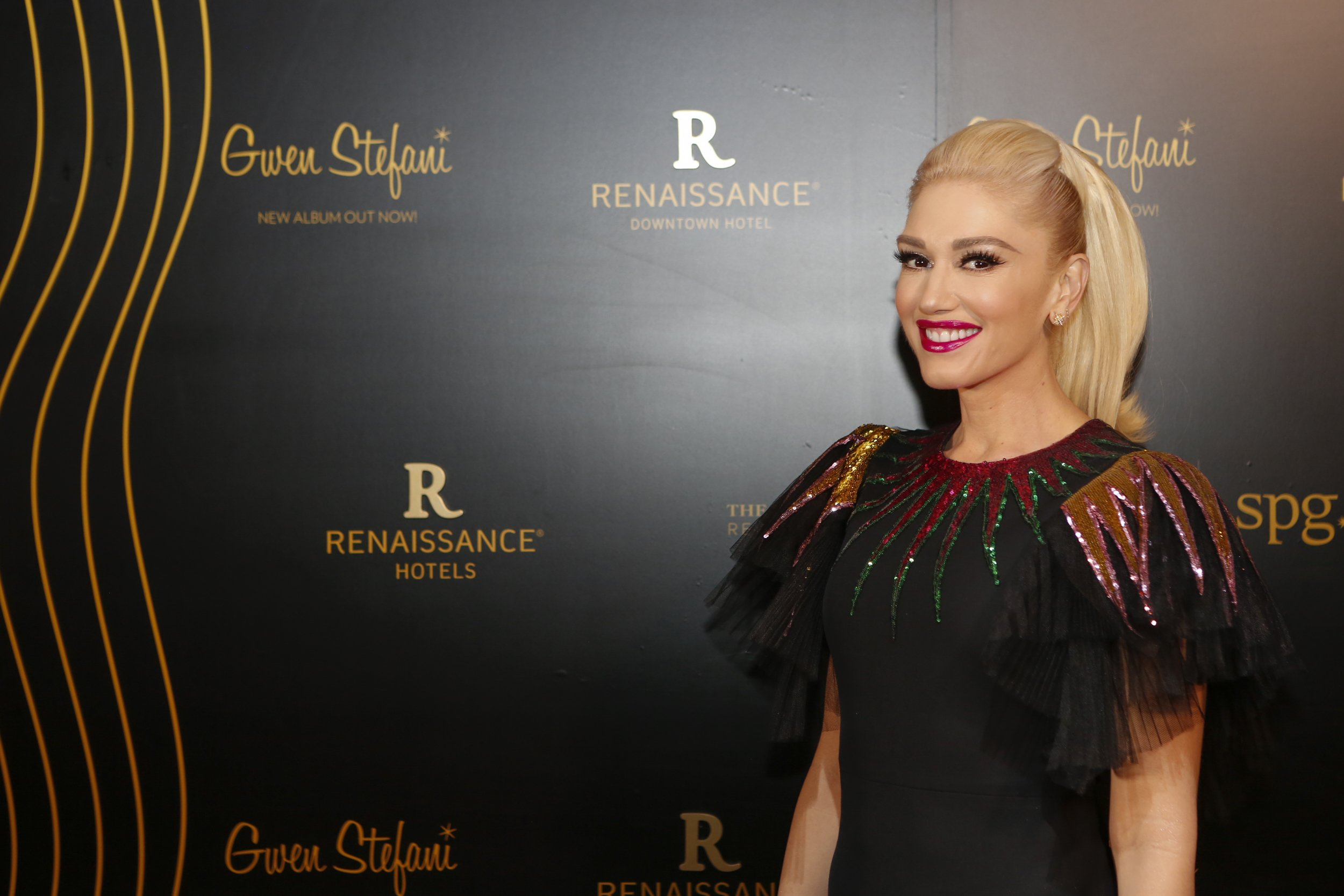 Gwen Stefani attends the opening of the Renaissance Downtown Hotel, Dubai on December 4, 2017.   Photo: Getty Images