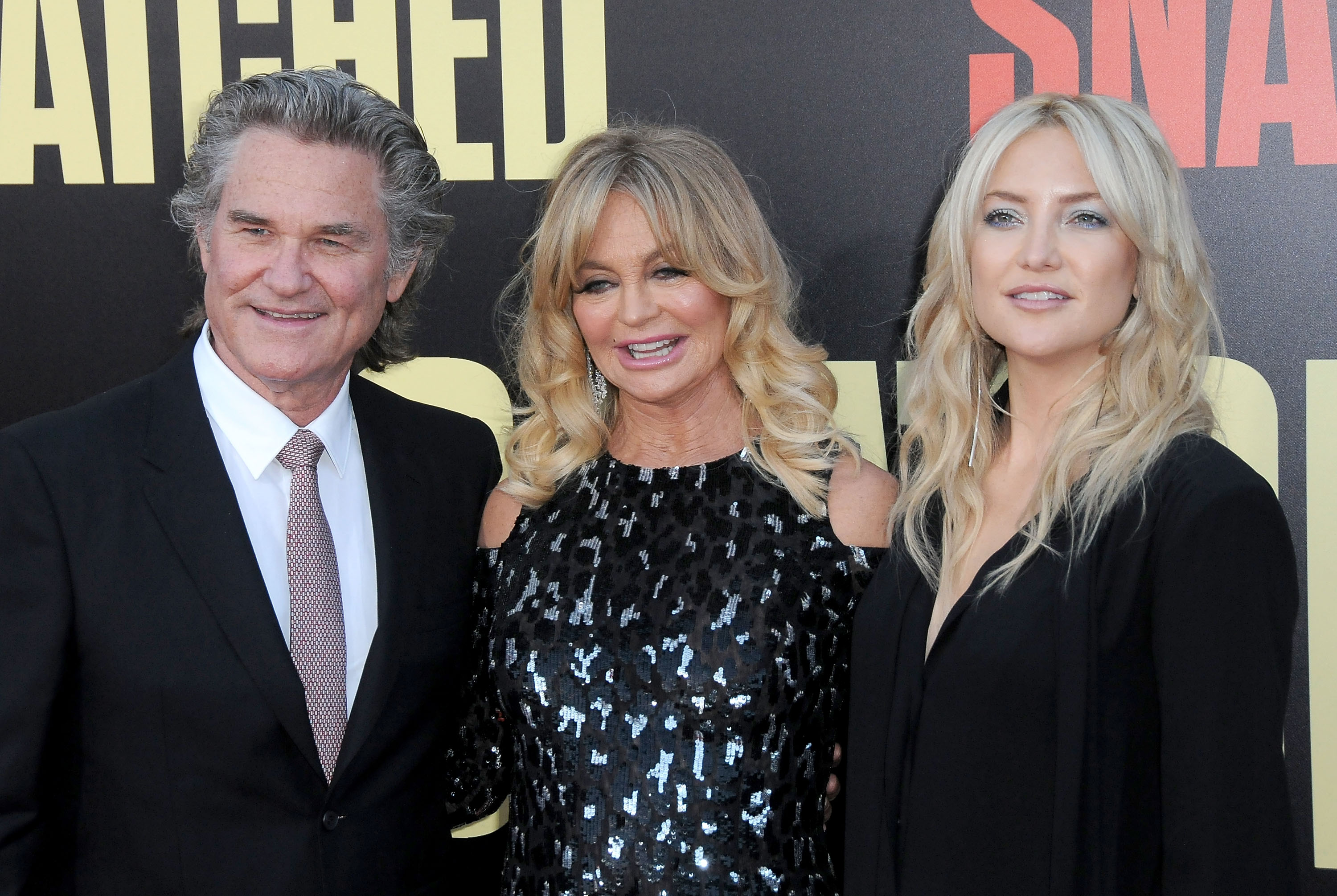 Kurt Russell, actresses Goldie Hawn and Kate Hudson attend premiere of 20th Century Fox's' 'Snatched' at Regency Village Theatre on May 10, 2017 in Westwood, California.   Source: Getty Images