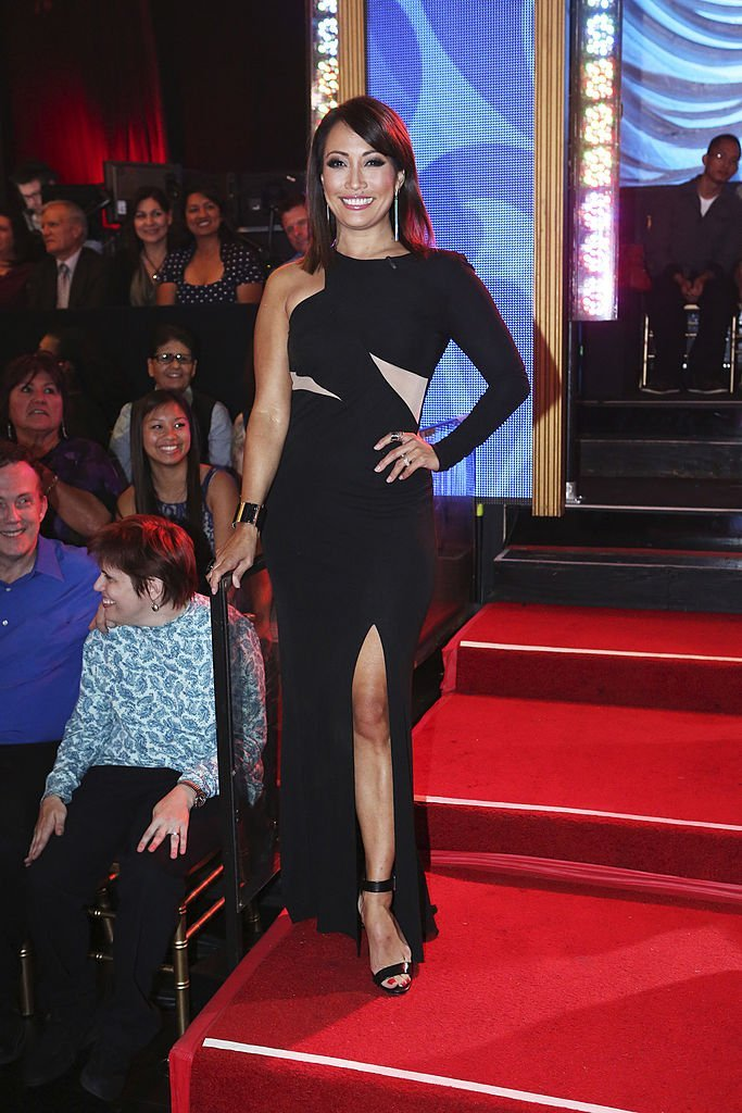 """Carrie Ann Inaba at the """"Dancing With The Stars"""" Season 28 show red carpet on Monday April 14, 2014. 