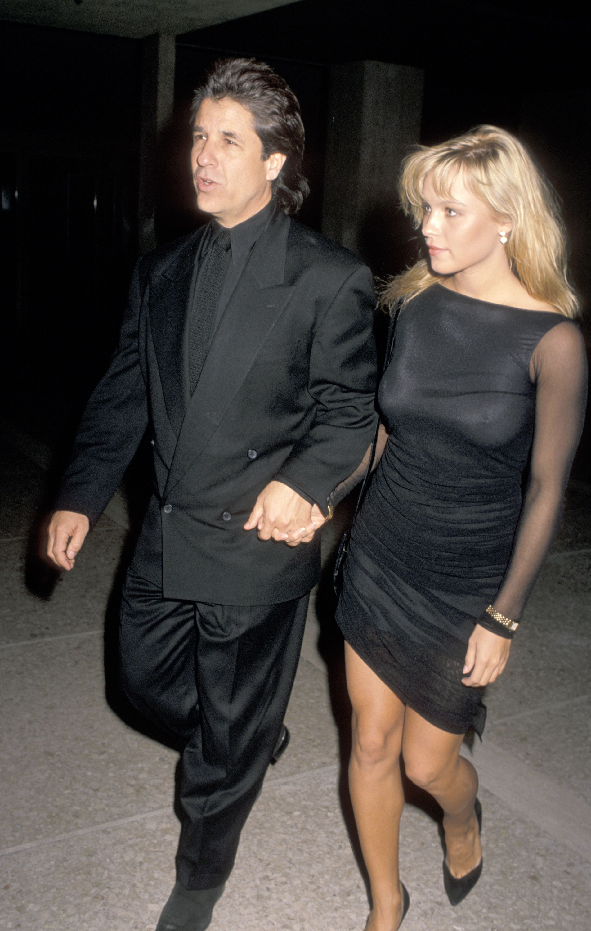 """Pamela Anderson and Jon Peters at the """"Glory"""" Los Angeles premiere in 1989 