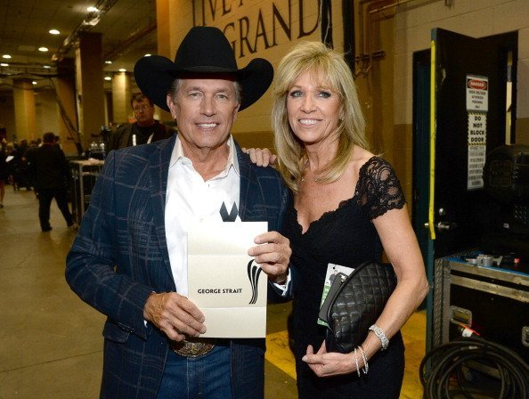 George Strait and Norma Strait at the MGM Grand Garden Arena on April 6, 2014 in Las Vegas, Nevada | Photo: Getty Images