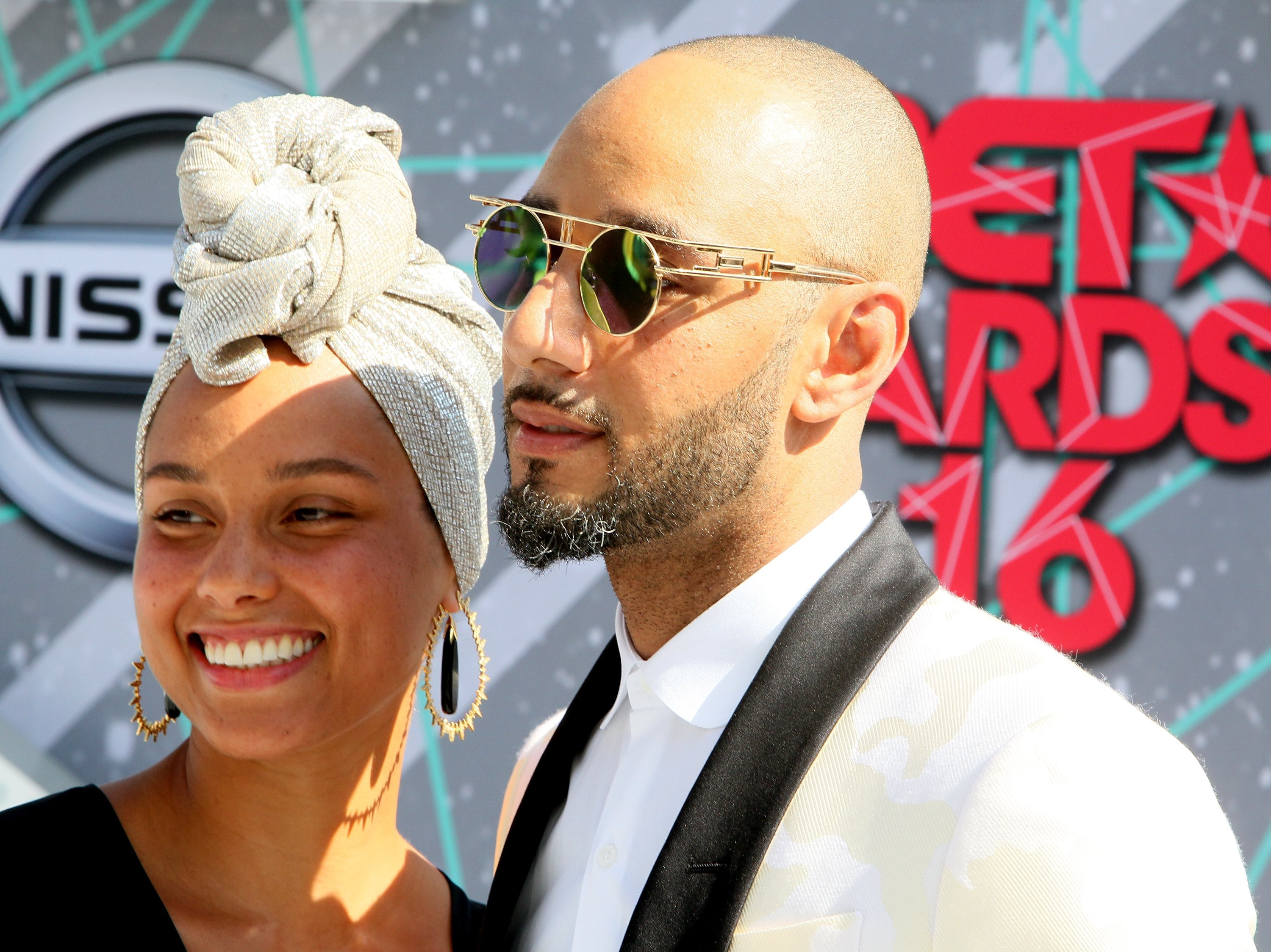 Alicia Keys & Swizz Beatz at the BET Awards in Los Angeles, California on June 26, 2016 | Photo: Getty Images