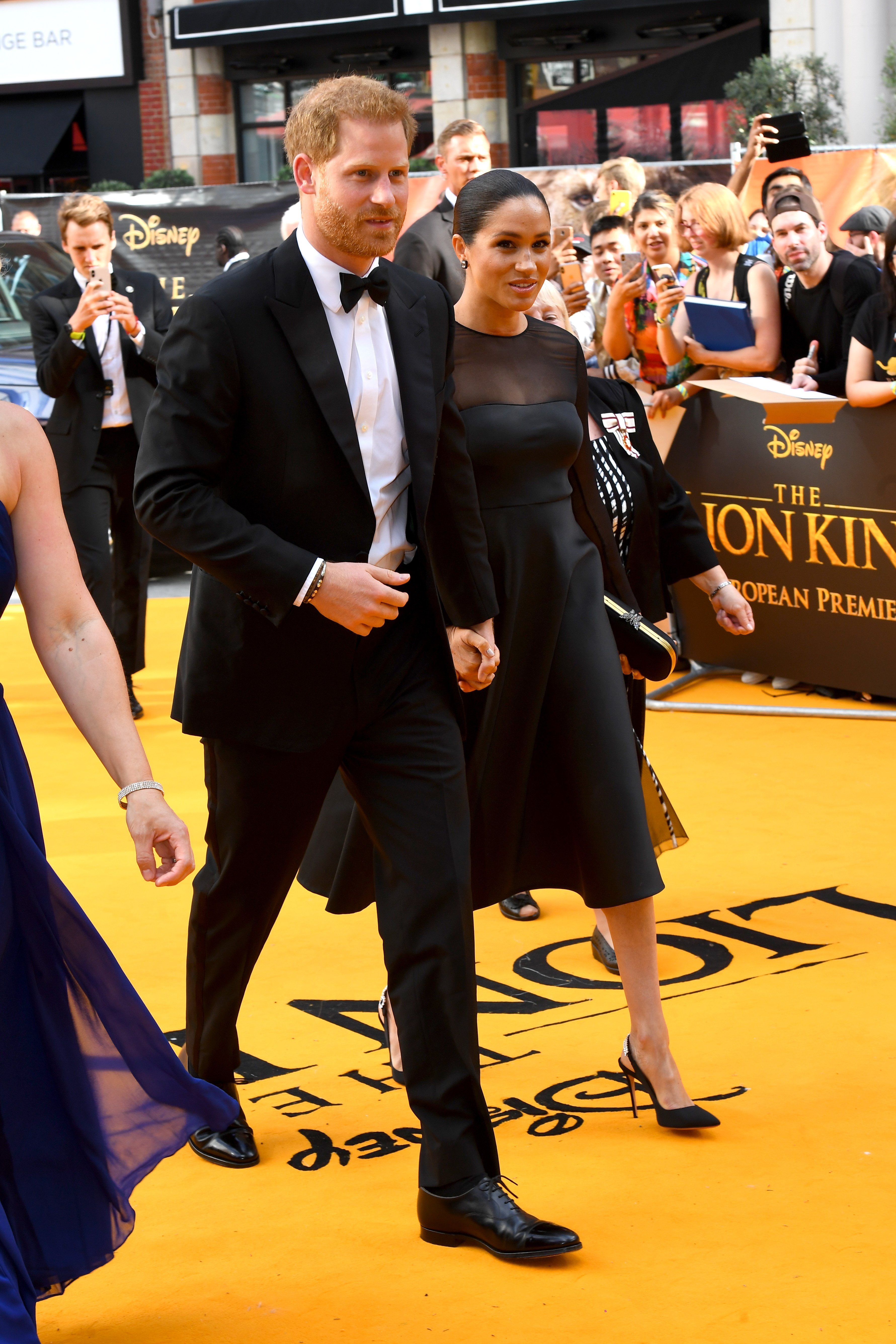 "Prince Harry and Meghan Markle attend the premiere of ""The Lion King"" in London, England on July 14, 2019 