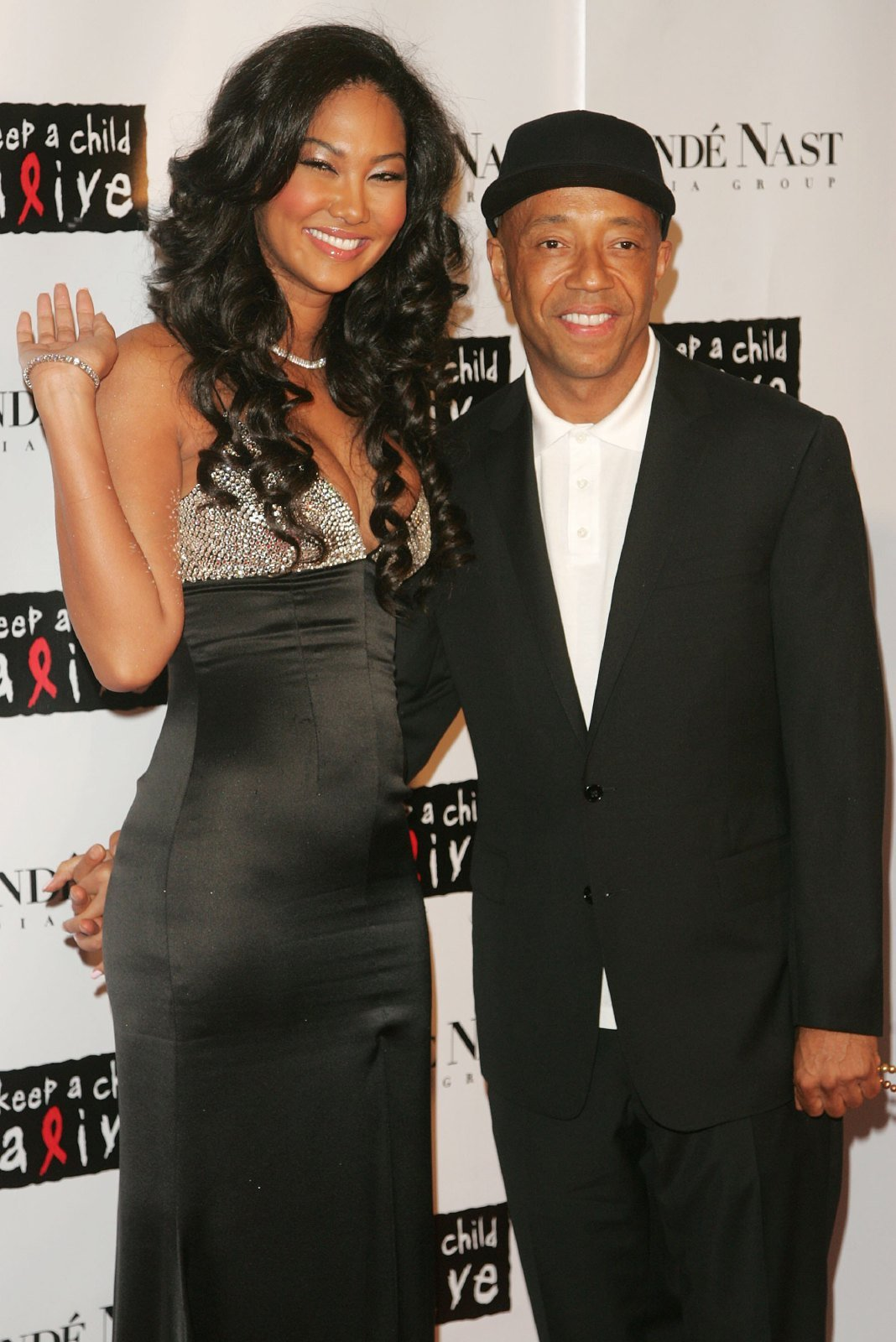 """Designer Kimora Lee Simmons and Recording executive/producer Russell Simmons attend """"The Black Ball"""" presented by Conde Nast Media Group and hosted by Alicia Keys and Iman to benefit """"Keep A Child Alive"""" at Hammerstein Ballroom November 9, 2006 