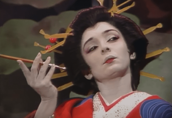 Ana Martín interpretando a Oyuki. | Imagen:  YouTube / Liliana Bilello