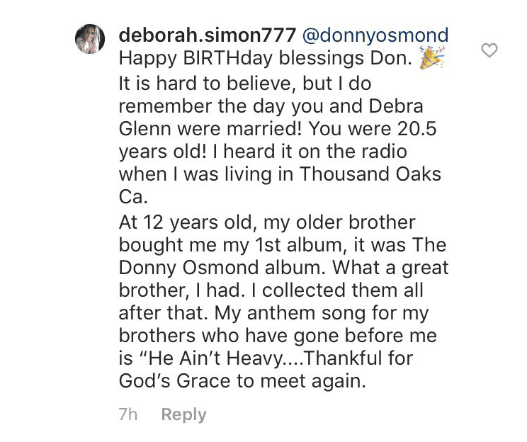 Photo: Instagram/donnyosmond