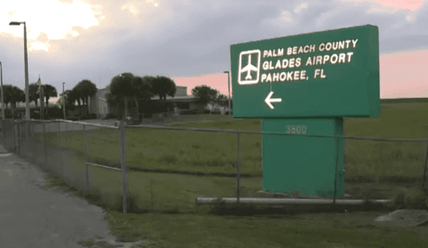 Palm Beach County Glades Airport, the destination of the crashed aircraft   Photo: WPTV News