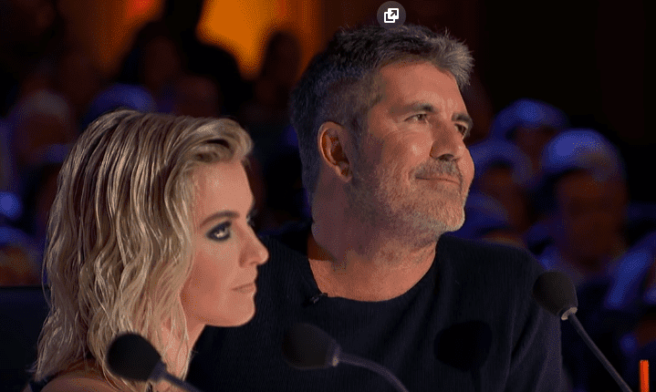 "Simon Cowell with fellow judge Julianne Hough on ""America's Got Talent"" 