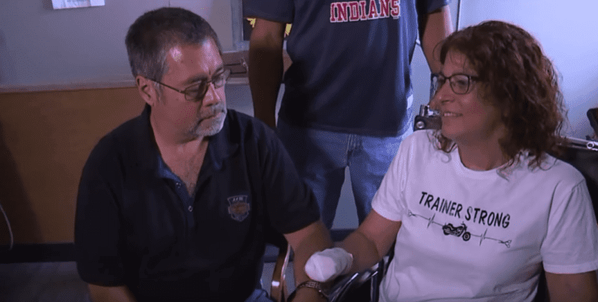 Marie Trainer with her husband, Matthew Trainer | Photo: FOX 8 News Cleveland