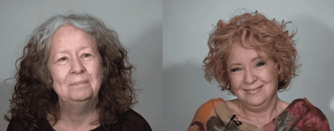 Before and after makeover. | Photo: YouTube/MAKEOVERGUY Minneapolis