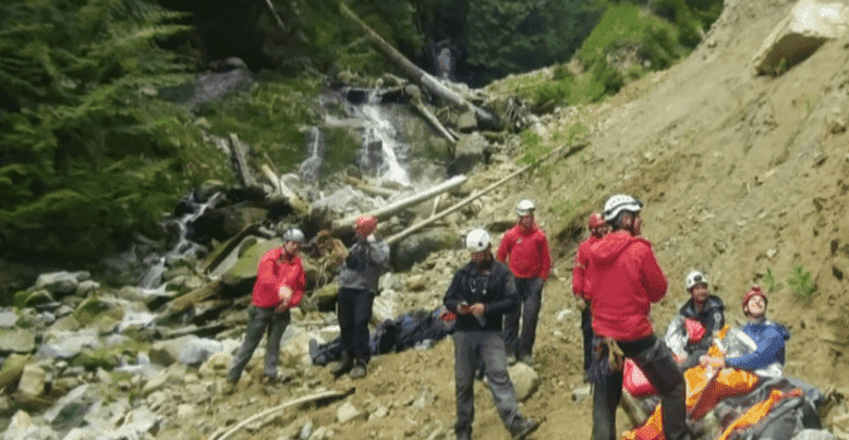 Members of the Coquitlam Search and Rescue team on site | CBC News: The National