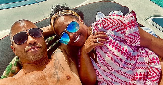 Keshia Knight Pulliam & Fiancé Brad Pose for a Photo While Enjoying a Romantic Date on a Boat