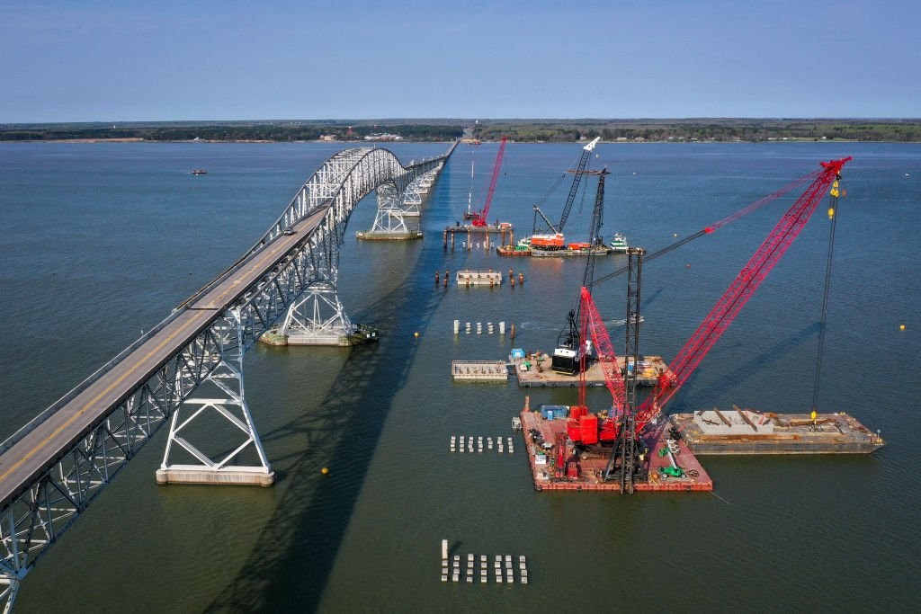 An aerial view of a bridge on April 8, 2021 | Photo: Getty Images