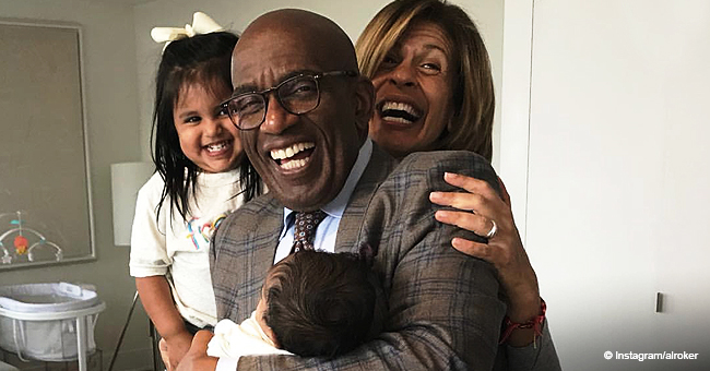 Al Roker 'Can't Stop Smiling' in Photo with Hoda Kotb's New Daughter