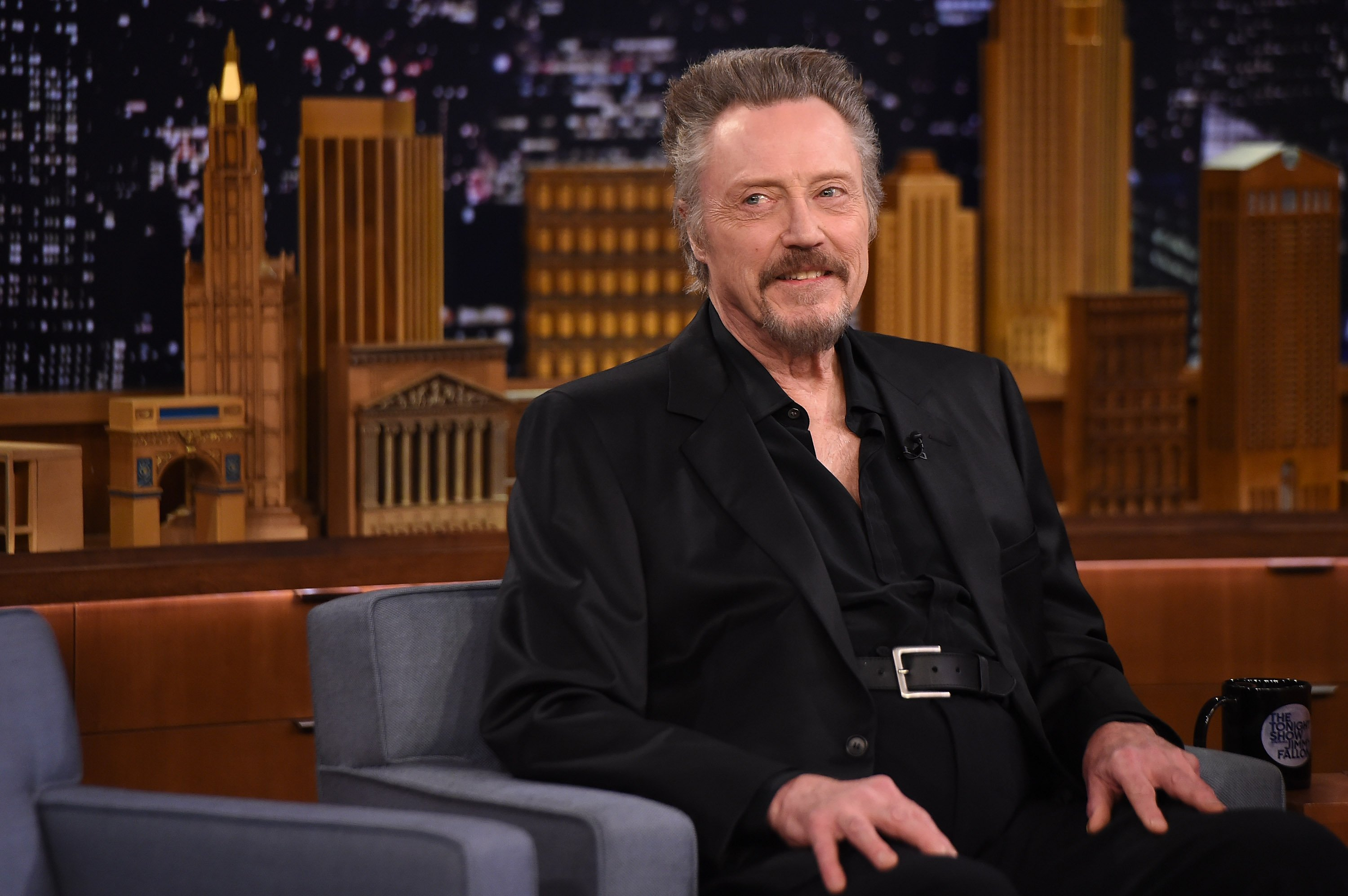 """Christopher Walken Visits """"The Tonight Show Starring Jimmy Fallon"""" at Rockefeller Center on November 26, 2014 in New York City.   Source: Getty Images"""