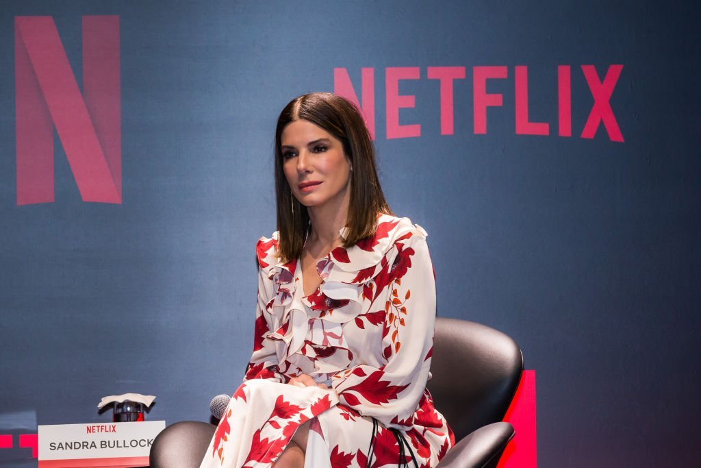 "Sandra Bullock attends the Netflix ""Bird Box"" press conference 