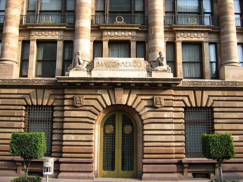 Fachada del Banco de México.| Fuente: Wikimedia Commons