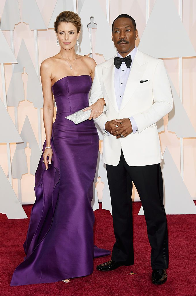 Eddie Murphy and Paige Butcher at the 87th Annual Academy Awards in 2015 in Hollywood | Source: Getty Images