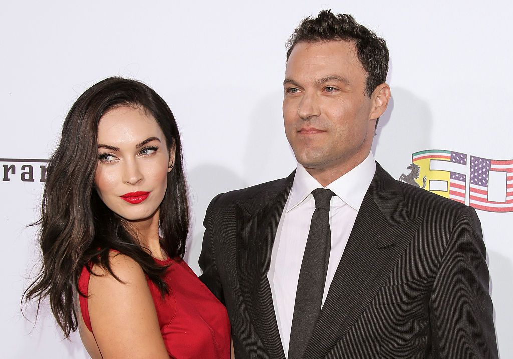 Actors Megan Fox (L) and Brian Austin Green (R) attend Ferrari's 60th Anniversary In The USA Gala on October 11, 2014 in Beverly Hills, California. | Source: Getty Images